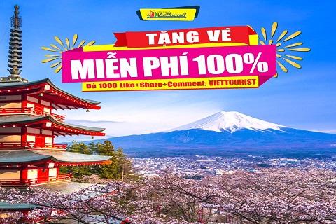 Du lịch Nhật Bản miễn phí cùng Viettourist