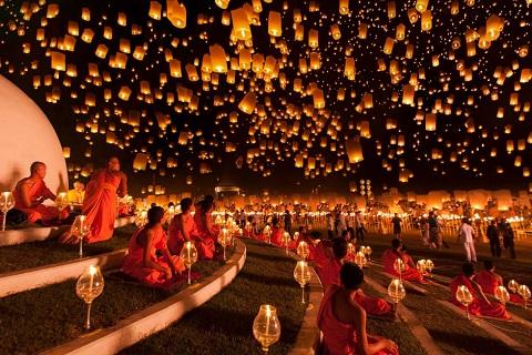 Du lịch Thái Lan tháng 11: Diệu kỳ lễ hội Hoa đăng Loi Krathong