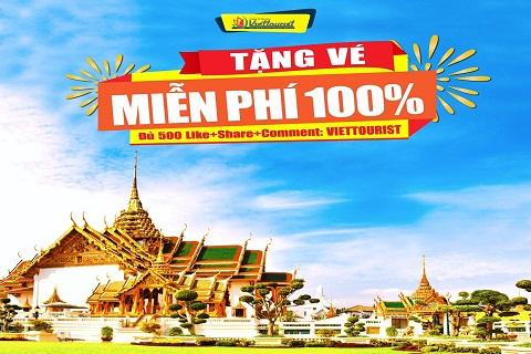 Du lịch Thái Lan miễn phí cùng Viettourist