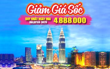 Du lịch Malaysia 4Sao Giảm 1 Triệu chỉ còn 4tr888  Kualalumpur | Putrajaya | Malacca | Genting 3N2Đ