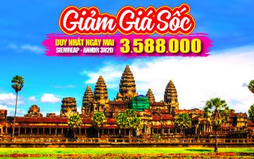 Du lịch Campuchia Hè 4Sao PhnomPenh | Siemreap | Angkor 3N2Đ