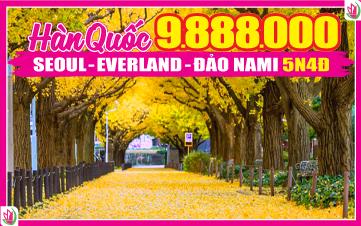 DU LỊCH HÀN QUỐC SEOUL | NAMSAN TOWER | ĐẢO NAMI | EVERLAND