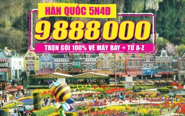 Du lịch Hàn Quốc Cao Cấp 5N4Đ  Seoul | Namsan Tower | Đảo Nami | Everland
