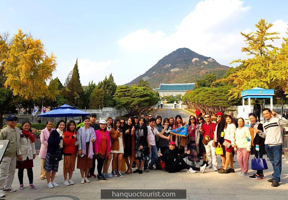 du lịch Hàn Quốc- dinh tổng thống