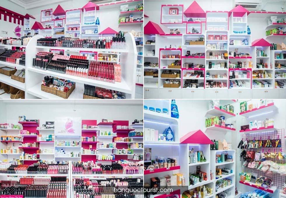 du lịch Hàn Quốc- cửa hàng mỹ phẩm