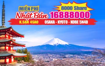 Du Lịch Nhật Bản Hè Osaka - Kyoto - Kobe 5N4Đ