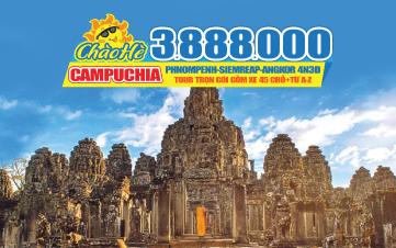 Tour du lịch Campuchia |Siemreap | Angkor Wat | Thủ Đô Phnompenh | 4N3Đ