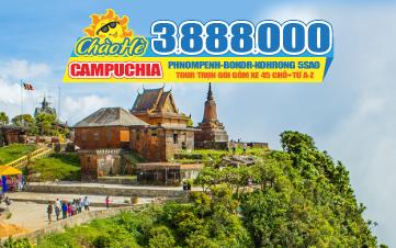 Tour du lịch Campuchia hè cao cấp 5 Sao Thasur Bokor - Sokha Beach 3N2Đ