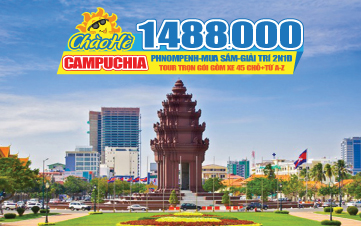 Tour du lịch hè Campuchia | Phnompenh giá cực rẻ