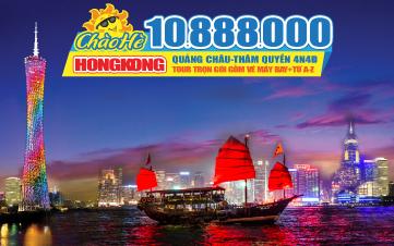 Du lịch HongKong Dip Hè 4Sao Quảng Châu | Thẩm Quyến 4N4Đ