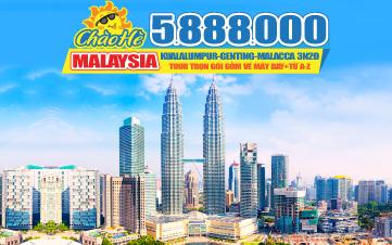 Tour Du lịch Malaysia 5Sao Giảm 1 Triệu | Kualalumpur | Putrajaya | Malacca | Genting | 3N2Đ