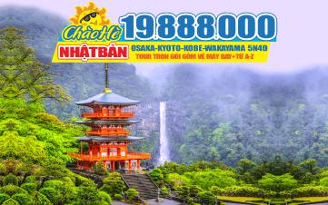 Tour du Lịch Nhật Bản Osaka - Kyoto - Kobe -Wakayama 5N4Đ Bay thẳng từ HCM 19tr888