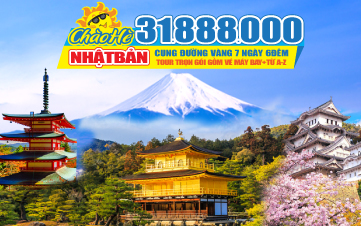 Tour du lịch hè Nhật Bản CUNG ĐƯỜNG VÀNG Bay thẳng từ HCM Osaka | Kyoto | Núi Phú Sĩ | Tokyo 4sao 7N6Đ