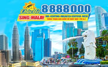 Tour Du lịch Malaysia - Singapore Hè Khám Phá | Kualalumpur | Cao Nguyên Genting | Phố Cổ Malaca | Joho City | Garden By The Bay | 4N3Đ