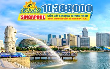 Tour Du Lịch Singapore Hè  |  Garden By The Bay | Marina Bay Sands | Jurong Bird Park | Đảo Sentosa | 4N3Đ