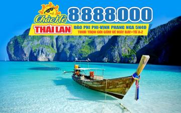 Tour du lịch Thái Lan Hè Phuket | đảo Phi Phi | vịnh Phang Nga | chùa Kathu | 4N3Đ