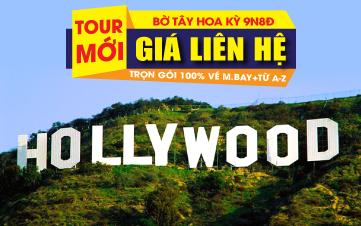 Bờ Tây Hoa Kỳ: Los Angeles - Hollywood - Las Vegas - Grand Canyon - Premium Outlet - Universal Studio - Solvang - San Jose -San Francisco
