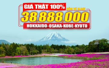 Du lịch Nhật Bản 4Sao trọn gói 38tr888 Hokkaido | Osaka | Kyoto | Kobe | Noboribetsu | Otaru | Sapporo 7N6Đ