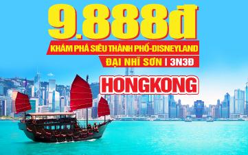 Du lịch Hongkong lễ 2/9 4Sao| Disneyland | Đại Nhĩ Sơn cuối tuần 3N3Đ