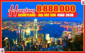 Du lịch Hongkong 4Sao 8tr888 | Disneyland | Đại Nhĩ Sơn cuối tuần 3N3Đ