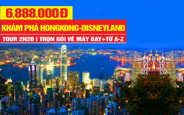 DU LỊCH HONGKONG   Disneyland   Đại Nhĩ Sơn  2N2Đ