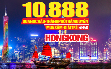 Du lịch HongKong 4Sao 10tr388 | Quảng Châu | Thẩm Quyến 4N4Đ