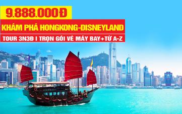 DU LỊCH HONGKONG 4Sao   Disneyland   Đại Nhĩ Sơn  3N3Đ