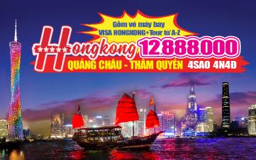 Du lịch HongKong 4Sao 12tr888 | Quảng Châu | Thẩm Quyến 4N4Đ