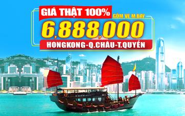 Du lịch HongKong 4Sao 6tr888 HongKong | Quảng Châu | Thẩm Quyến 3N3Đ
