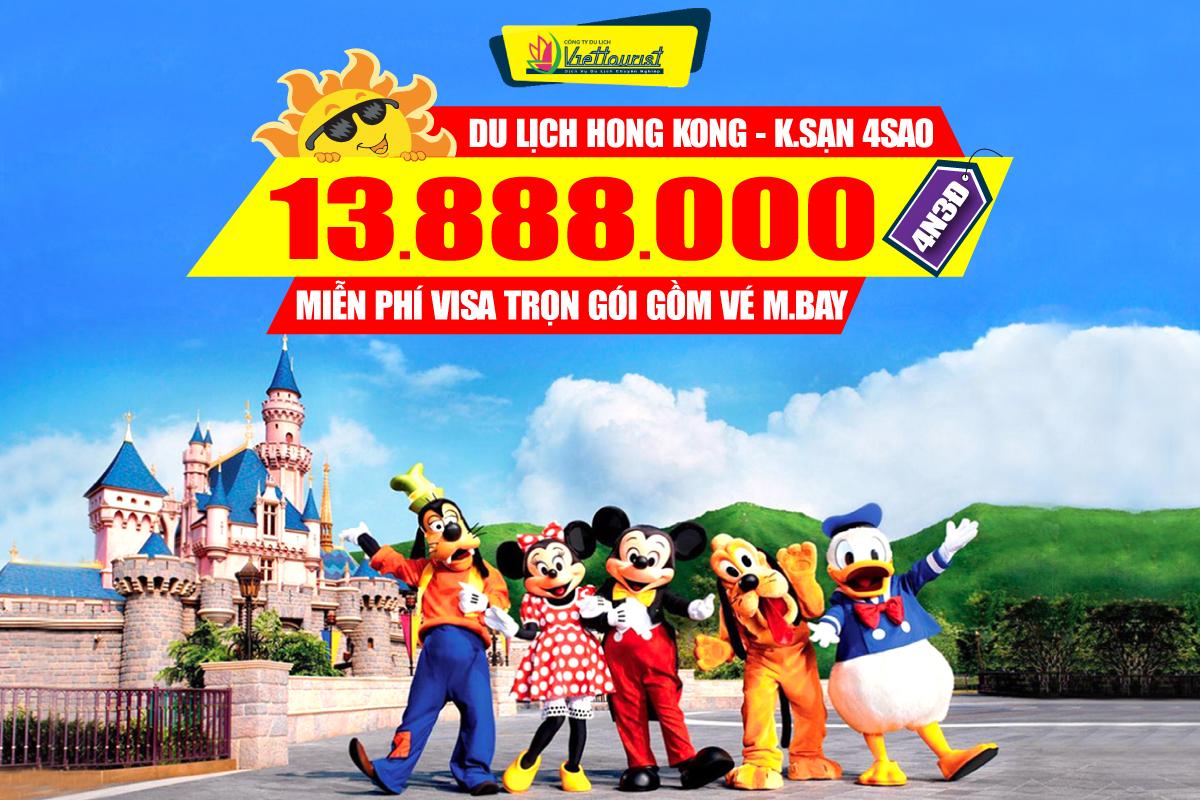 Du lịch Hongkong 4Sao Disneyland | Đại Nhĩ Sơn 3N2Đ