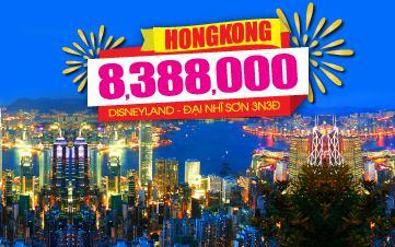 Du lịch Hongkong 4Sao 8tr388 | Disneyland | Đại Nhĩ Sơn cuối tuần 3N2Đ