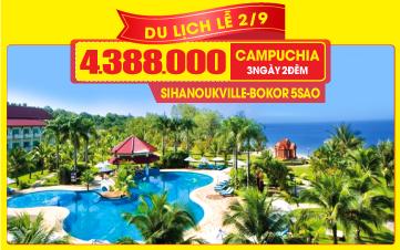 Tour du lịch Campuchia Lễ 2/9 cao cấp 5 Sao Pnompenh | Thasur Bokor | Sokha Beach | 3N2Đ