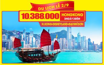 Tour du lịch lễ 2/9 Hongkong   Disneyland   Đại Nhĩ Sơn 3N3Đ