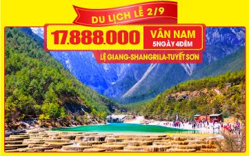 Tour du lịch Trung Quốc Lễ 2/9   LỆ GIANG   SHANGRILA   Vân Nam   7N6Đ