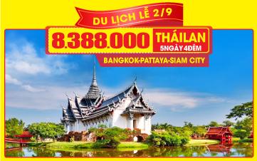 TOUR DU LỊCH THÁI LAN MỚI 5SAO LỄ 2/9   THÀNH PHỐ SIAM   BANGKOK   PATTAYA   5N4Đ
