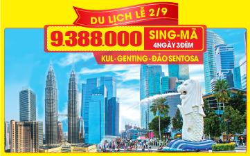 Du lịch Malaysia - Singapore lễ 2/9 4Sao 9tr388 Kualalumpur | Malacca | Joho City 4N3Đ