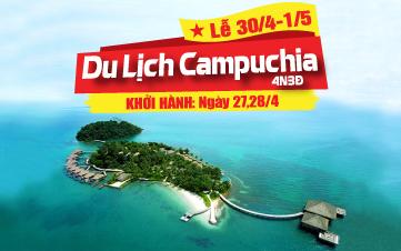 Du lịch Campuchia Lễ 30/4 Thiên đường biển Kohrong | Sihanoukville | Bokor 4N3Đ