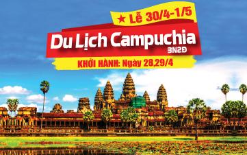 Du lịch Campuchia Lễ 30/4 PhnomPenh | Siemreap | Angkor 3N2Đ