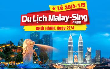 Du lịch Malaysia - Singapore Lễ 30/4 Kualalumpur | Malacca | Joho 4N3Đ