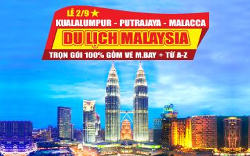 Du lịch Malaysia Lễ 2/9 4Sao  Kualalumpur | Putrajaya | Malacca | Genting 3N2Đ