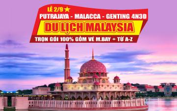 Du lịch Malaysia Lễ 2/9 5Sao Kualalumpur | Putrajaya | Malacca | Genting 4N3Đ