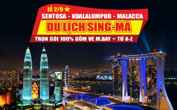 Du lịch Malaysia - Singapore Lễ 2/9 Kualalumpur | Malacca | Joho City 4N3Đ