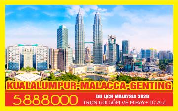 Du lịch Malaysia 5Sao Giảm 1 Triệu Kualalumpur | Putrajaya | Malacca | Genting 3N2Đ