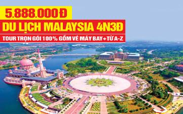 DU LỊCH MALAYSIA cao cấp 5SAO 4N3Đ