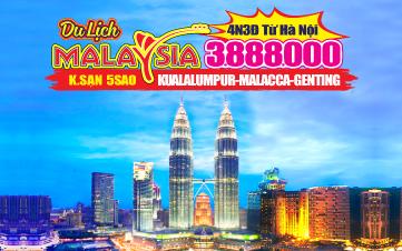 Du lịch Malaysia 5Sao Kualalumpur | Putrajaya | Malacca | Genting 4N3Đ từ Hà Nội