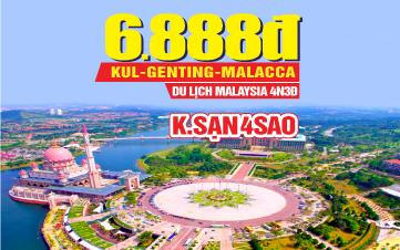 Tour Du lịch Hè Malaysia 5Sao | Kualalumpur | Putrajaya | Malacca | Genting | 4N3Đ