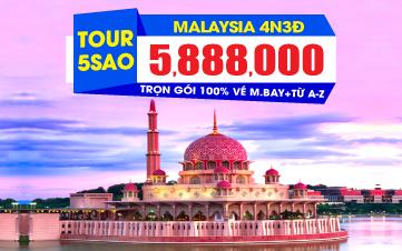 Du lịch Malaysia 5Sao Kualalumpur | Putrajaya | Malacca | Genting 4N3Đ