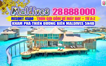 DU LỊCH MALDIVES RESORT 4SAO NGOÀI ĐẠI DƯƠNG 5N4Đ