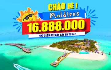 DU LỊCH MALDIVES 4N3Đ - RẺ CHƯA TỪNG CÓ