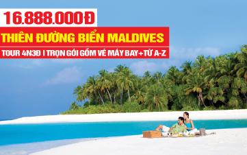 Du Lịch Maldives - Thiên Đường Biển Resort 4* - Rẻ Chưa Từng Có